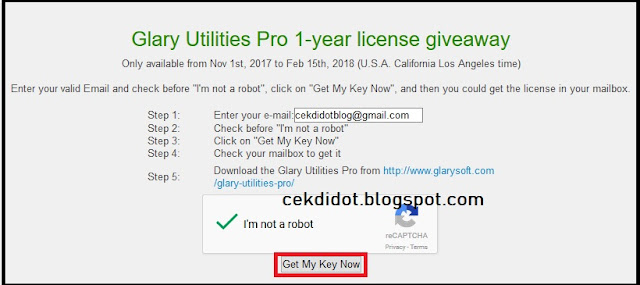 Giveaway Glary Utilities Pro 2018 Licensi Key Activation Code