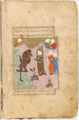 Profeetta Salih tuo kamelin kivestä, jotta kansa uskoisi Allahiin