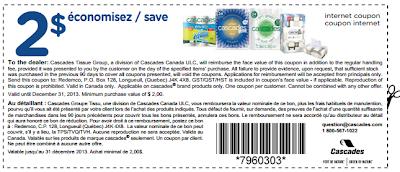 Cascades coupon rabais Québec