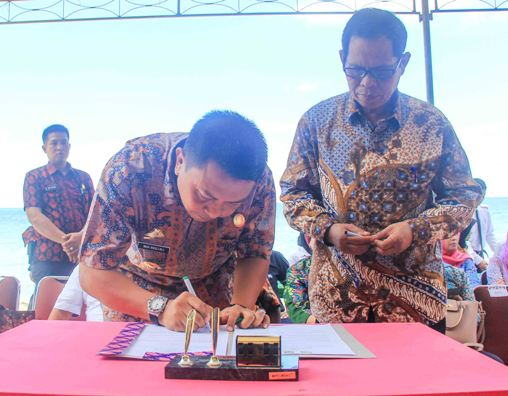 Berita Humas : Bupati dan Rektor ,Univ.Fajar Makassar ,Teken ,MOU, Kembangkan, Pariwisata ,Selayar