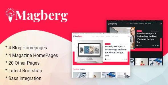 Best Blog & Magazine HTML Template
