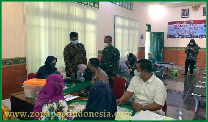 Sinergitas TNI-Polri Solid, Kapolres Bangkalan Donor Darah Jelang HUT TNI Ke-76