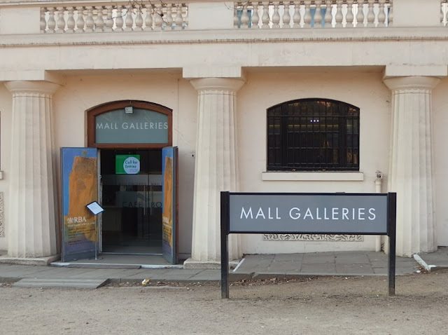 Entrance to the Mall Galleries London