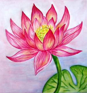 Sketsa Bunga Indah
