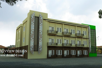 Design gedung asrama nuansa papua