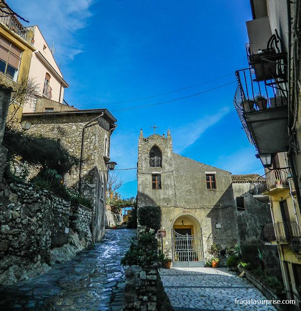 Rua medieval de Castelmola, Sicília
