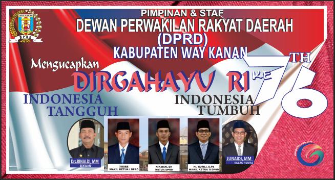 DPRD Way Kanan Mengucapkan Dirgahayu RI ke 76