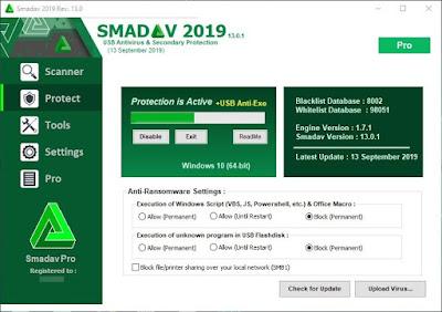Smadav Pro 2019 13.0.1 Full + Key