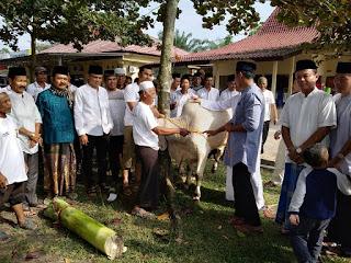 Polres Tulang Bawang Sembelih Tujuh Ekor Hewan Qurban di Hari Raya Idul Adha 1440 H