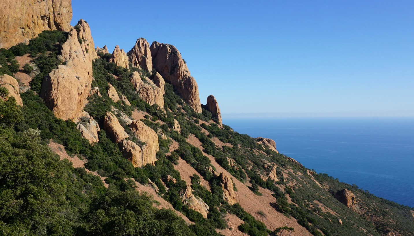 Southern flank of Esterel Mountains
