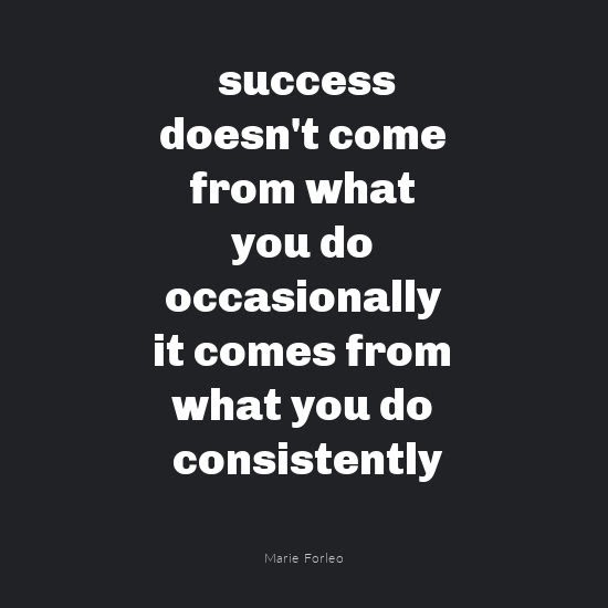 Success quote by Marie Forleo