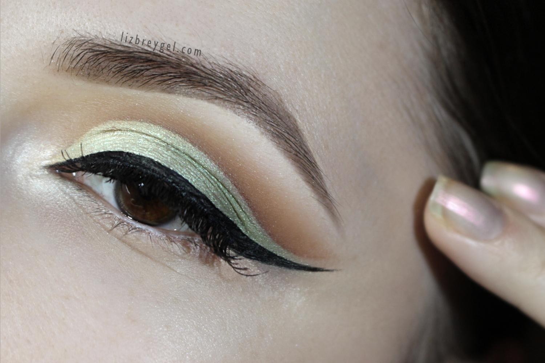 sage green bridal makeup look