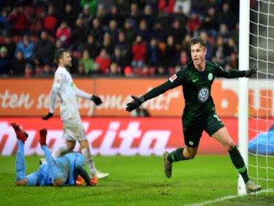 Video Augsburg 1-2 Wolfsburg: Vỡ òa 2 cú đánh đầu, phút 90+1 kết liễu