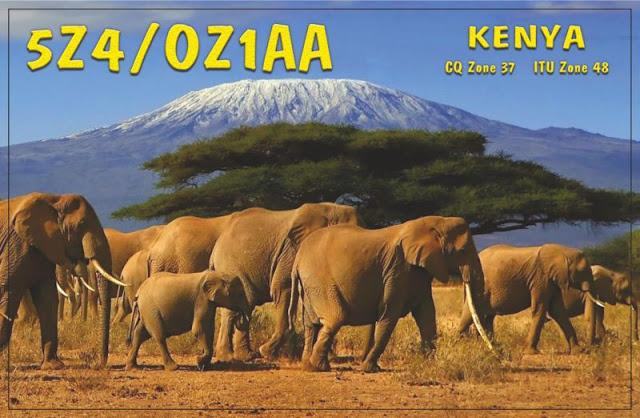 5z4 oz1aa - ( INFORMACIÓN )   5Z4 / OZ1AA, Kenya