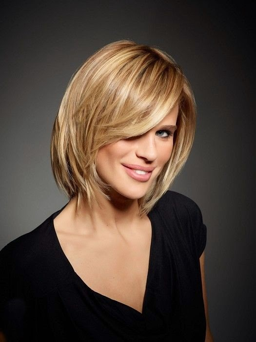 medium blonde straight coloured multi-tonal smooth healthy Womens hairstyles for women