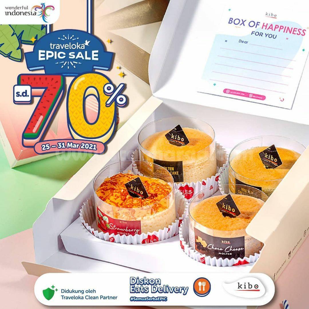 Promo Kibo Cheese Traveloka Epic Sale Diskon hingga 70%