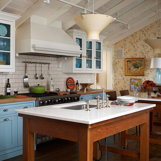Blue Kitchen Decor: New Home Interior Design: Blue Kitchen Design Ideas
