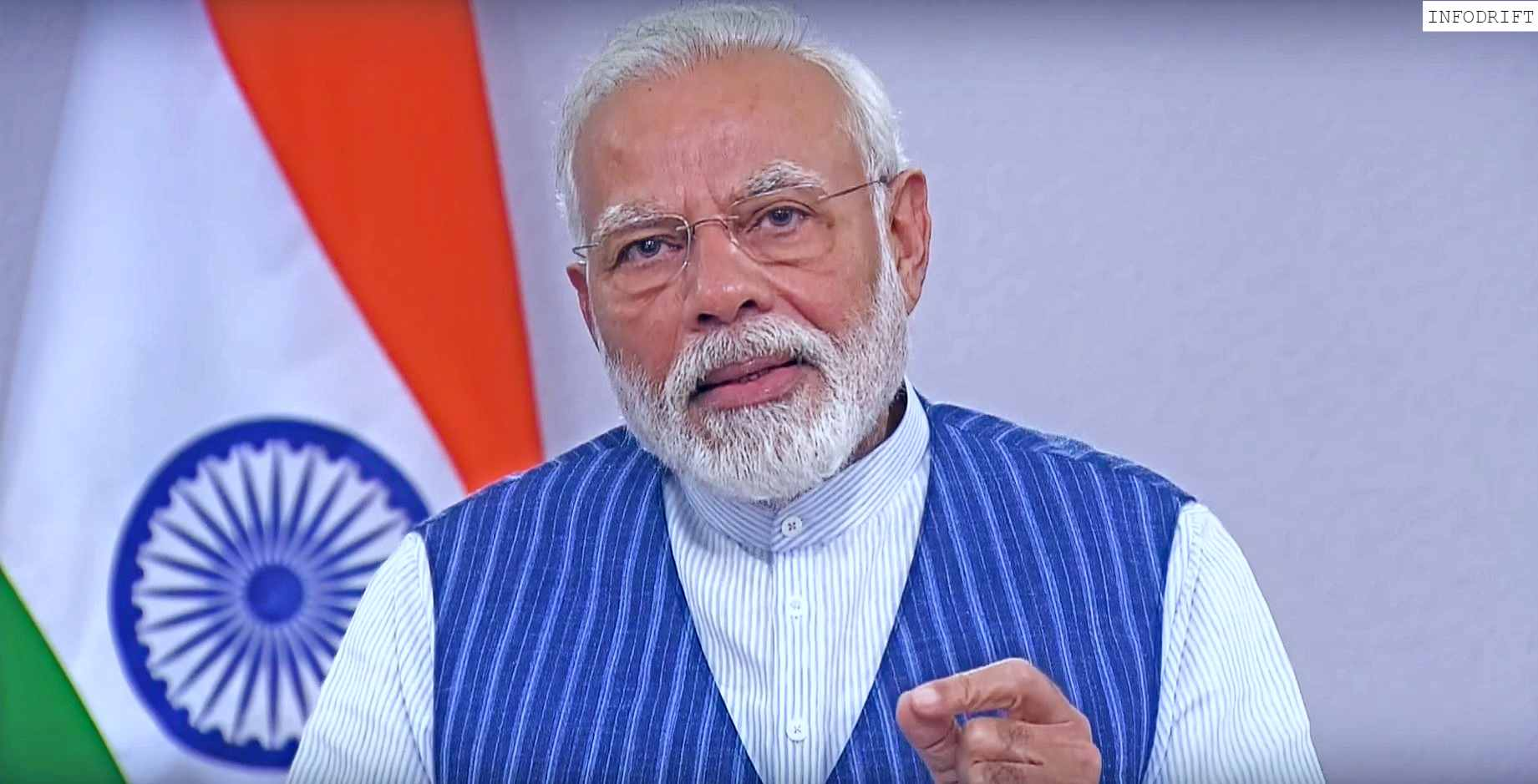 Narendra Modi addressing nation