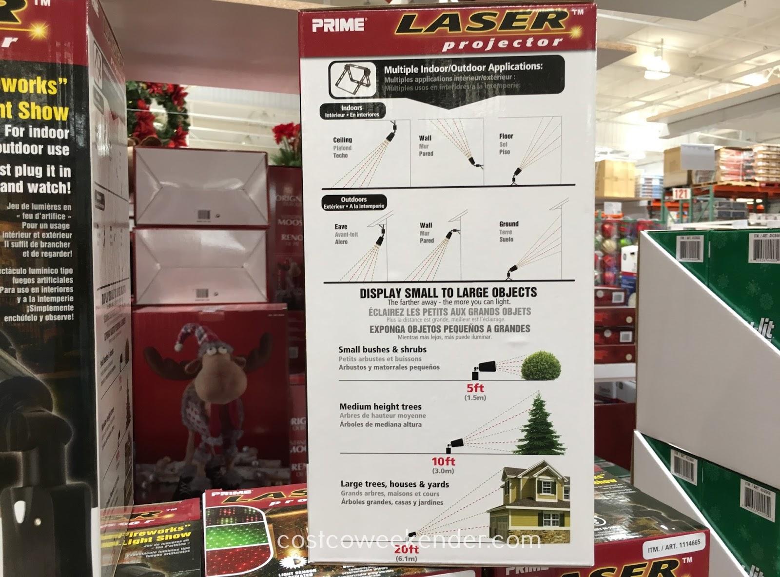 Prime Laser Projector (model LFLRGM505)   Costco Weekender