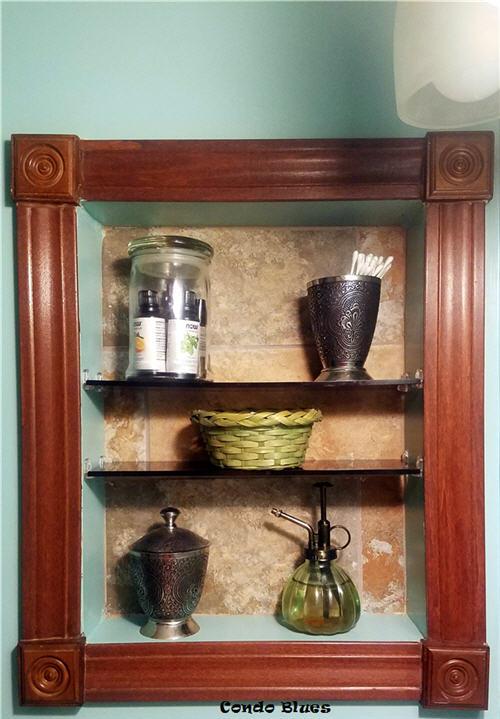 how to make a bathroom recessed wall storage shelves
