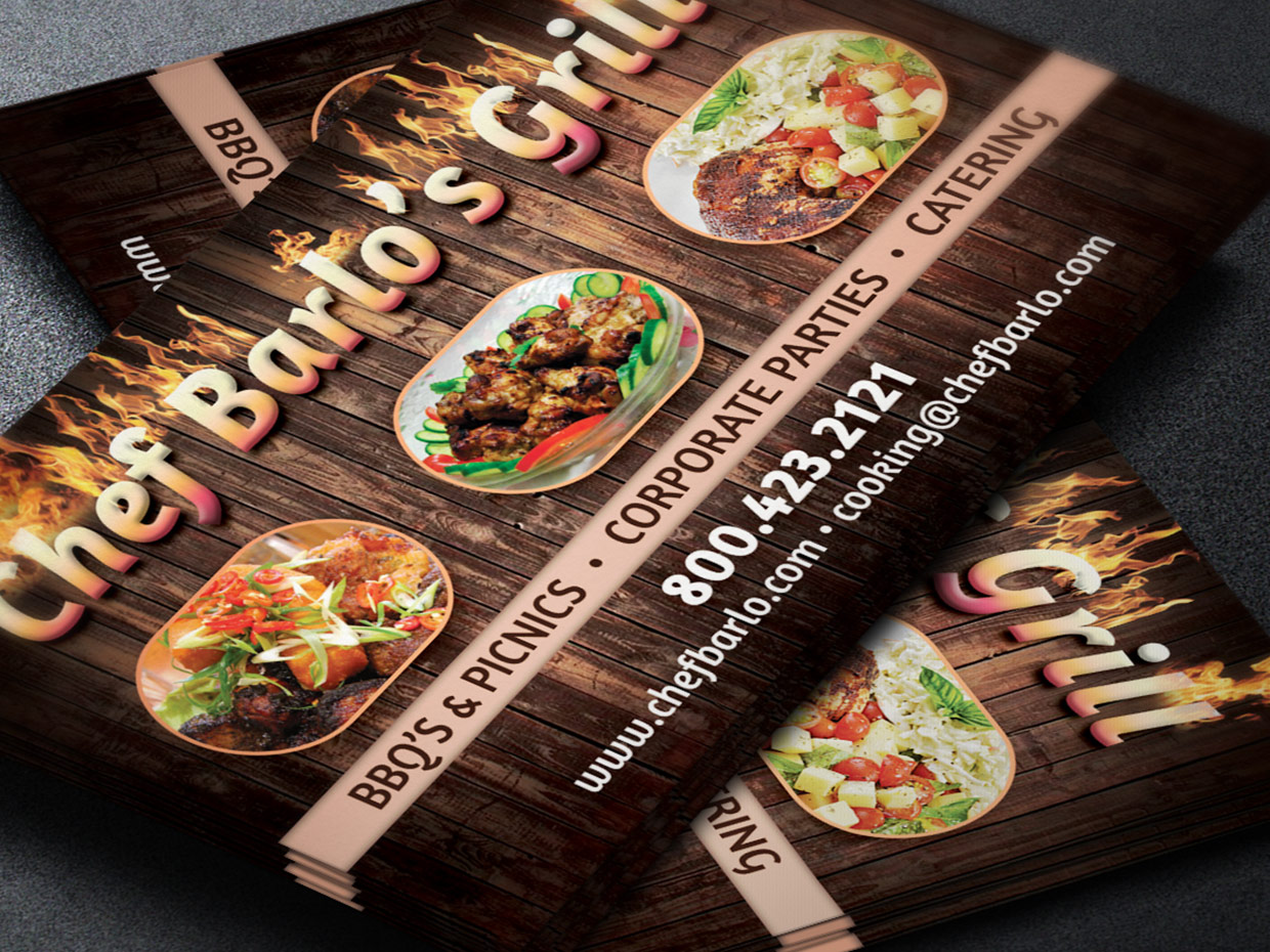 Chef Business Card Template Graphicmule