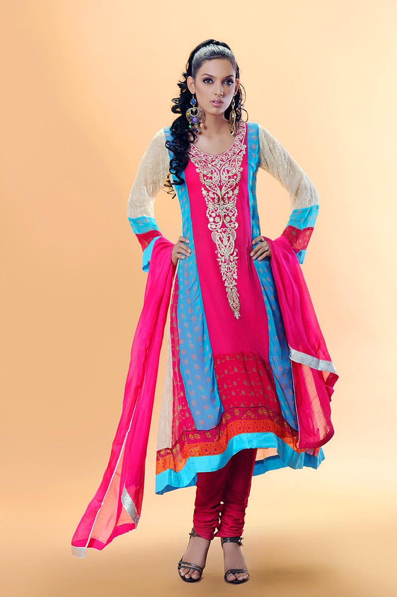 Fashion World Latest Fashion: Churidaar Pajama Long Shirt