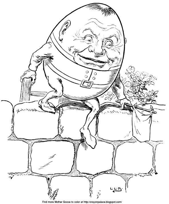 Humpty dumpty coloring sheets crayon palace for Humpty dumpty coloring pages