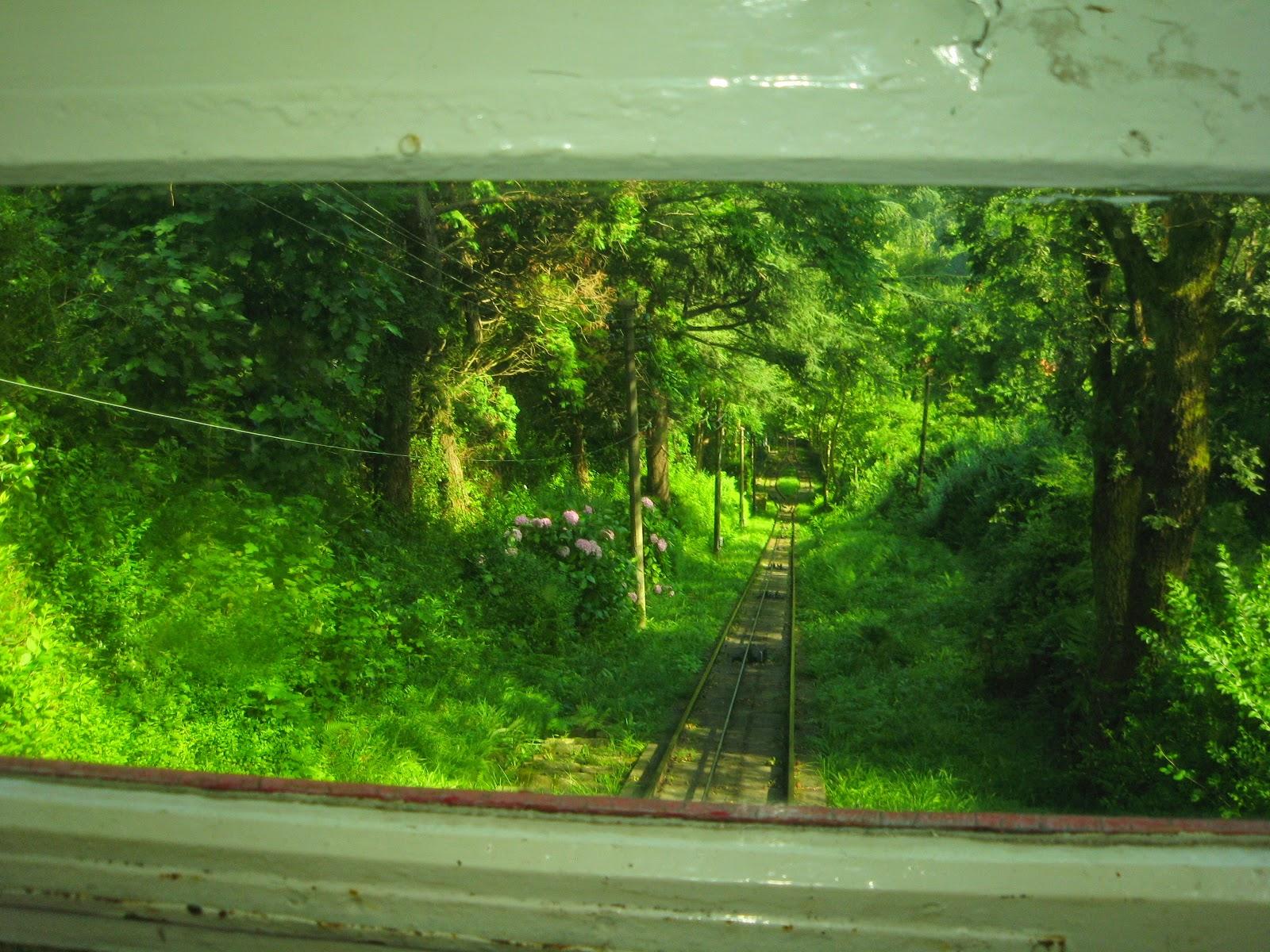 Vista desde el funicular del Monte Igueldo