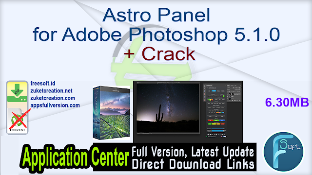 Astro Panel for Adobe Photoshop 5.1.0 + Crack