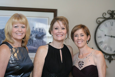 The three of us at a wedding.