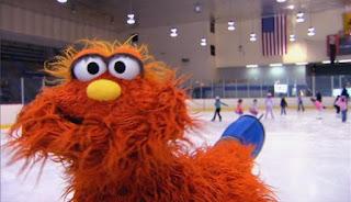 Murray shows how to ice skate. Sesame Street Episode 4421, The Pogo Games, Season 44.