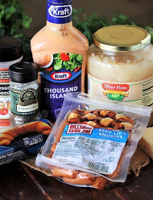 Reuben Pigs In a Blanket Ingredients Image