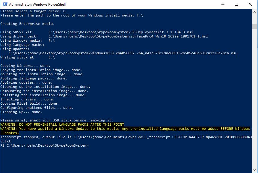 UCCrab Blog: Deploying Skype Room System on a Surface Pro 4