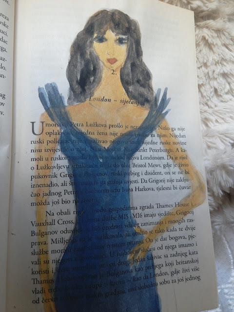 akvarel na stranici knjige
