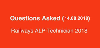 Railways ALP Tech Exam Analysis and Questions asked (14.08.2018)