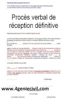 modèle pv de réception définitive des travaux word model, demande de réception définitive des travaux pdf,