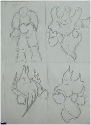Fire Elemental drawing