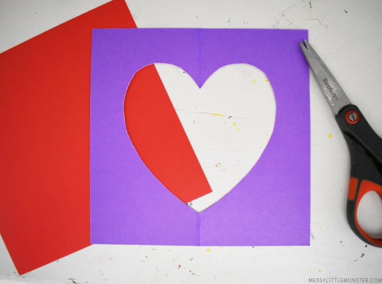 cutting heart shape