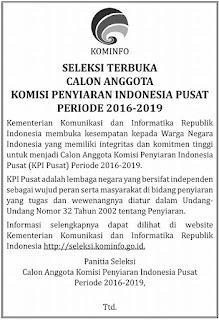 Komisi Penyiaran Indonesia Pusat (KPI) jakarta pusat