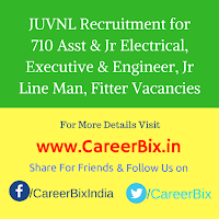JUVNL Recruitment for 710 Asst & Jr Electrical, Executive & Engineer, Jr Line Man, Fitter Vacancies