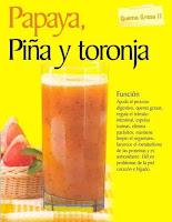 Jugos saludables papaya piña y toronja