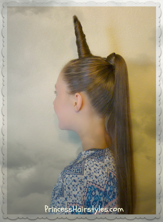 Unicorn Hairstyle For Halloween Or Crazy Hair Day Hairstyles For - Hairstyle diy video