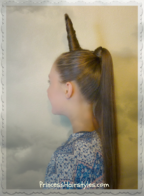 Unicorn Hairstyle For Halloween Or Crazy Hair Day