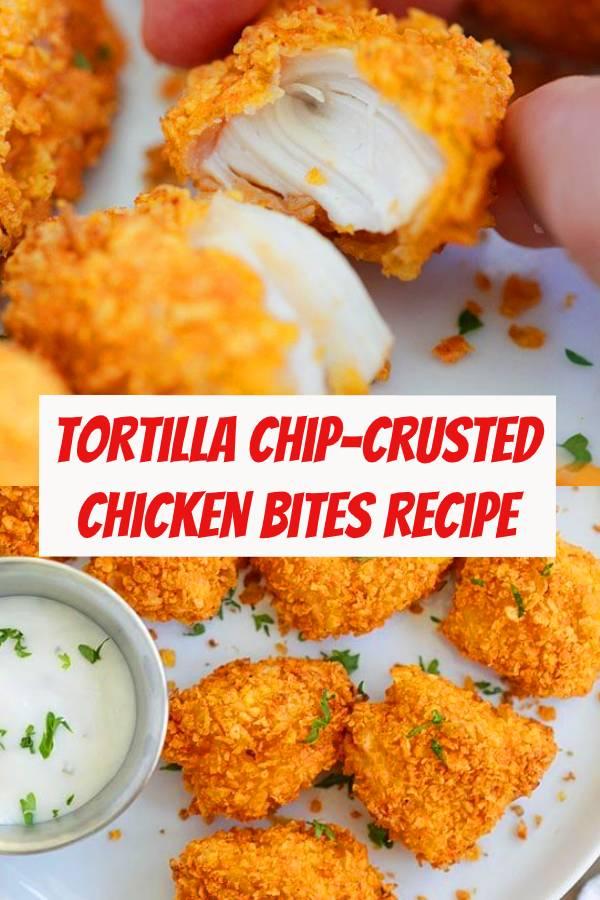 Tortilla Chip-crusted Chicken Bites Recipe | Easy Chicken Recipe | Easy Appetizers Recipe | Food for Parties #appetizers #snack #chicken #chickenrecipes