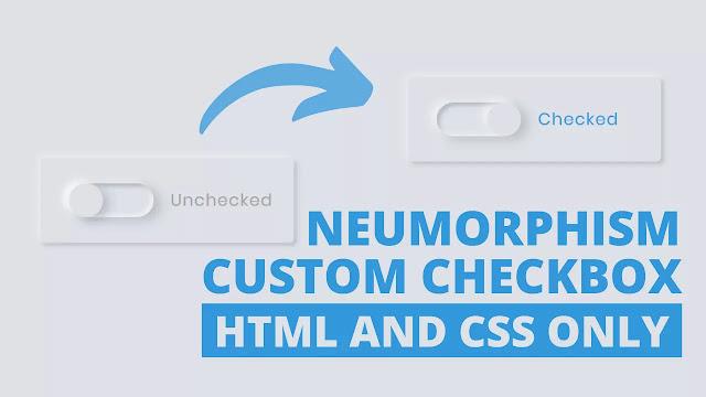 Neumorphism Custom Checkbox Design