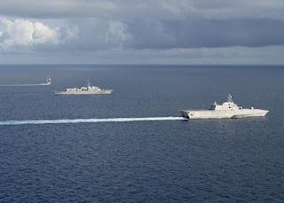 Kapal Perang AS-Jepang Gelar Latihan Gabungan