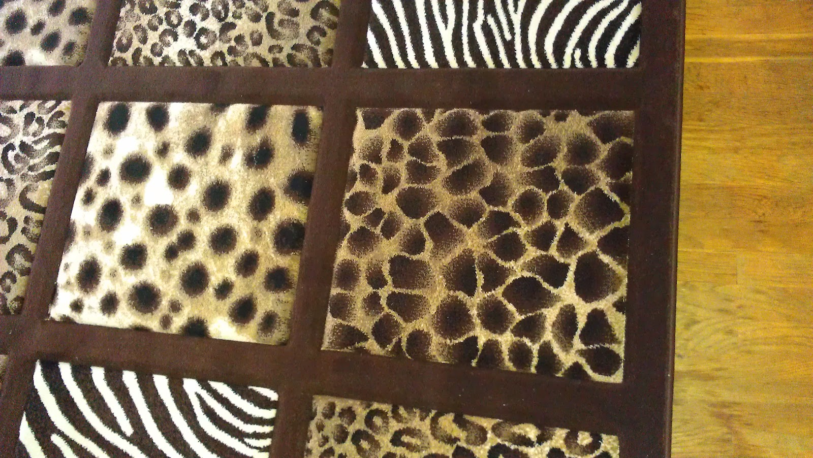 Large Area Rug With Leopard Zebra Cheetah Print 5ft 2in X