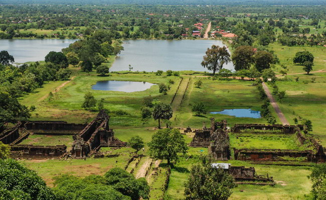 Xvlor Vat Phou is mysterious ruins of Shiva Hinduism and Theravada Buddhist