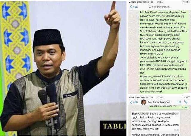 Heboh! Pengajian Sugi Nur di Masjid UGM Tidak Dapat Izin