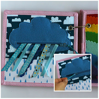Rainy cloud quiet book page